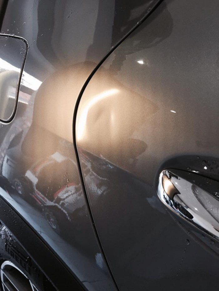 Car Door Dent Repair - Before